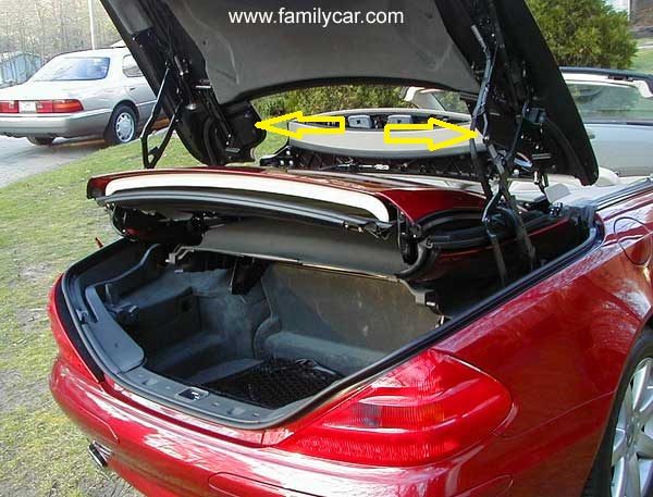 Sl500 2003 Roof Was In Open Position Tucked Away In Boot