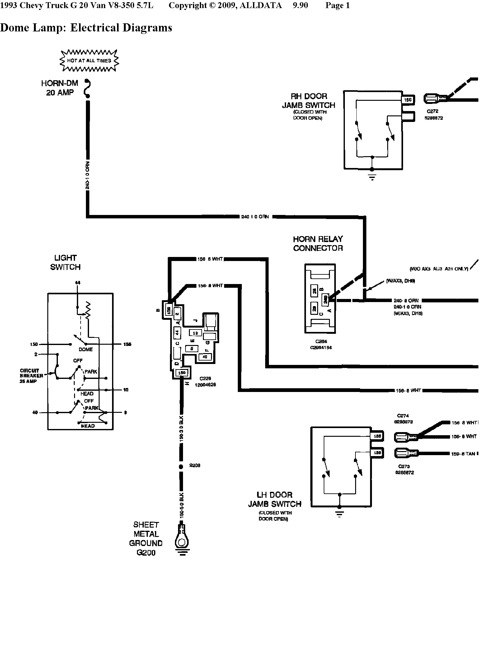 1989 chevy g10 van fuse box  diagrams  auto wiring diagram