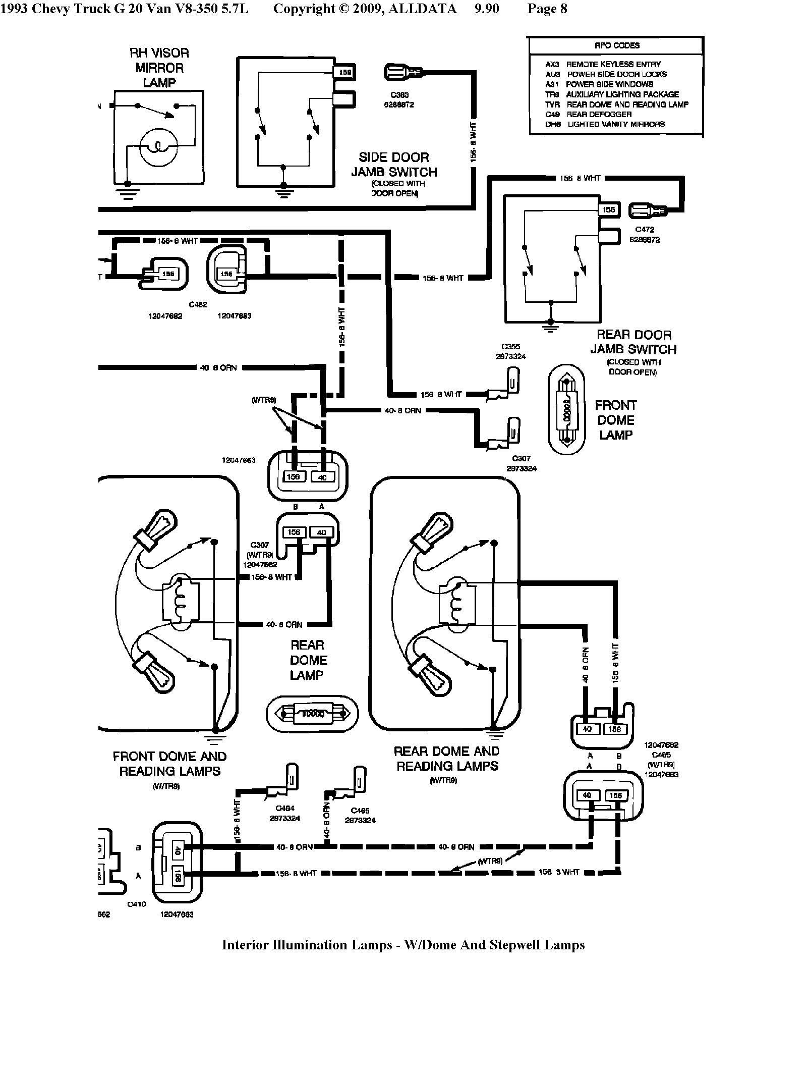 chevy g20 conversion van 5 0l engine chime  buzzer not