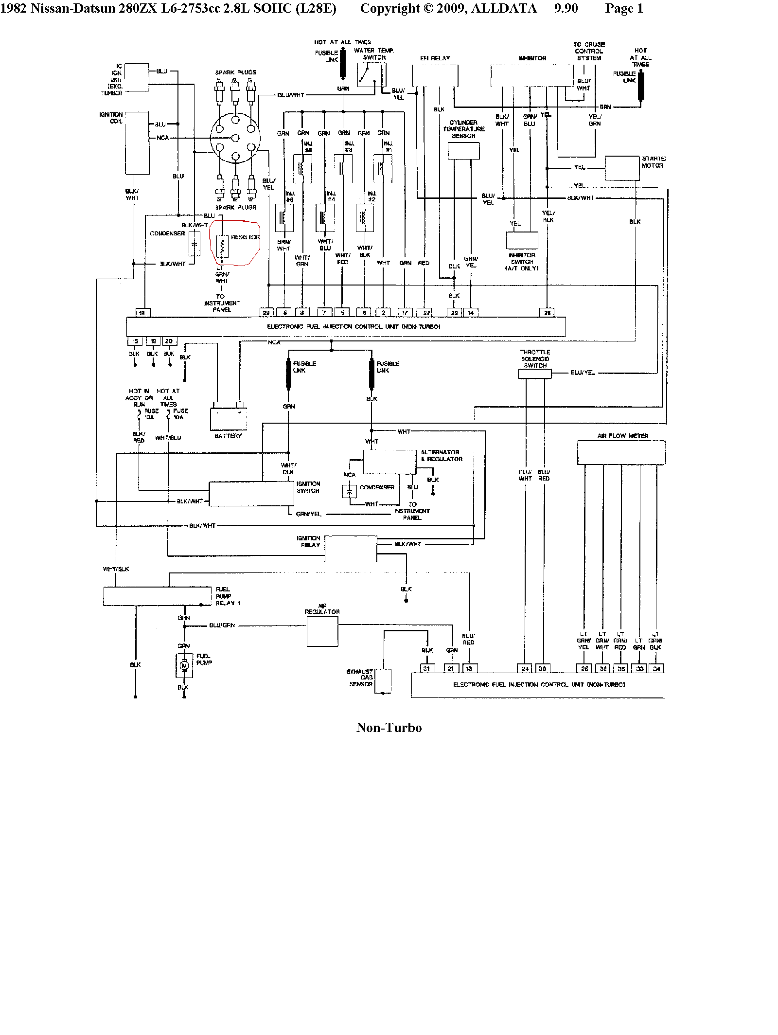 280zx alternator wiring diagram
