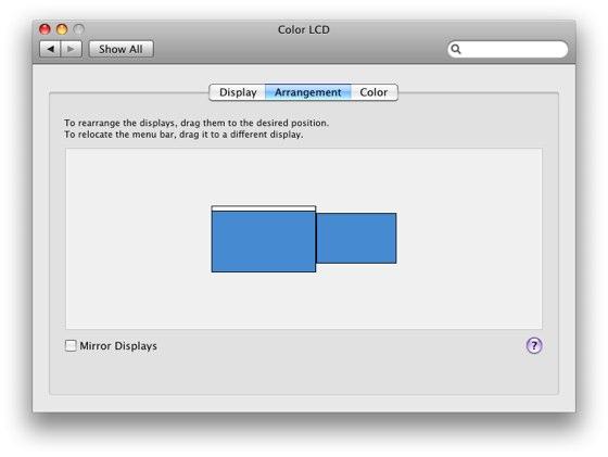 how to make external display default mac