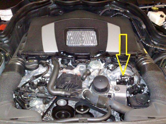 2007 mercedes c230 camshaft position sensor location 2007