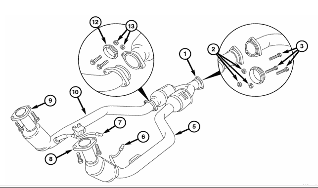 chrysler crossfire exhaust diagram