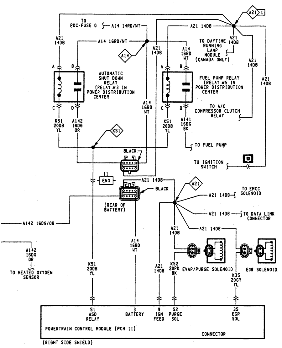 95 dodge dakota blower motor wiring diagram