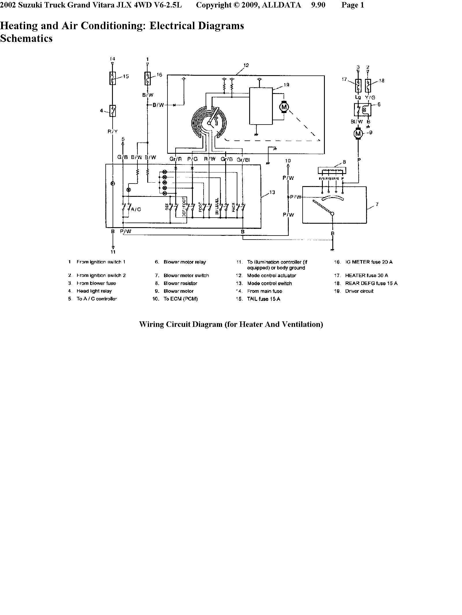 Wiring diagram for suzuki grand vitara get free image