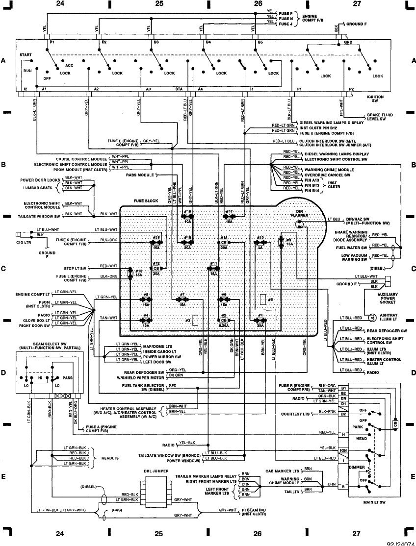2rse5 1992 Ford F150 Turn Parking Lights on 1992 ford f 250 tail light wiring diagram