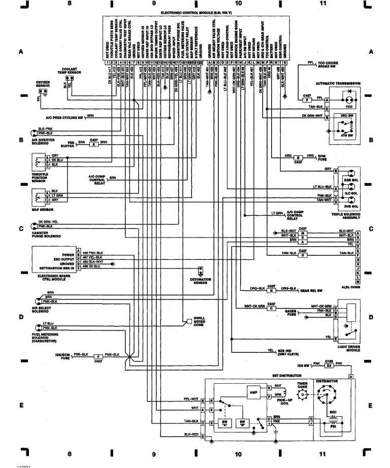 wire harrness 89 chev distabtor diagramto oxygen sensor circuits wiring