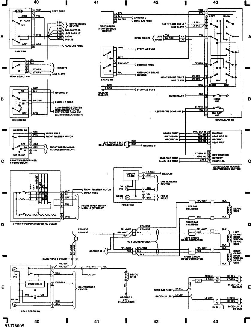 1997 chevy 2500 pickup lights wiring diagram