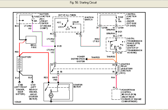 1994 ford taurus starter wiring diagram of my 2002 taurus won't start, it made clicking noise and ...