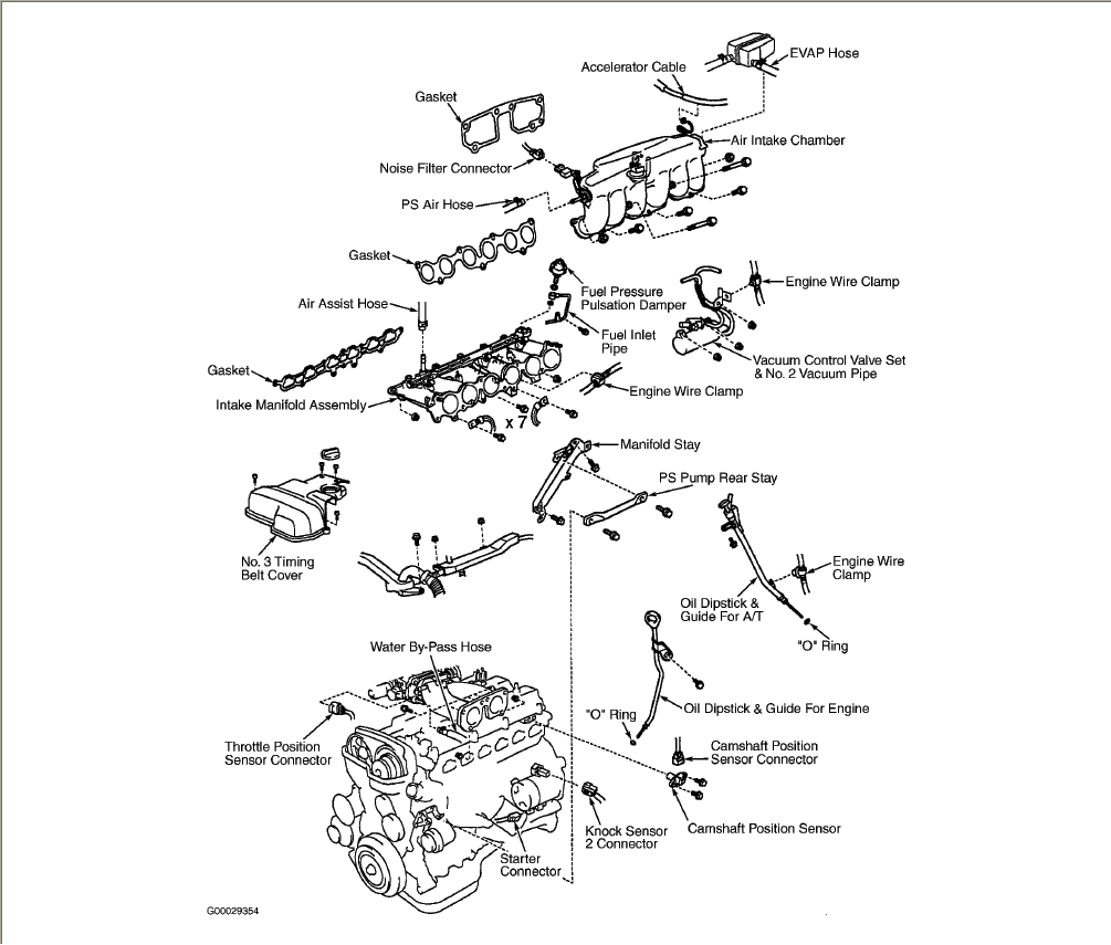 Diagram Of Air Fuel Sensor as well 3b5r1 Check Engine Light Code Identifies Knock Sensor in addition 2005 Lexus Es330 Sensor Diagram as well Toyota Avalon Bank 1 O2 Sensor Location also 452555 Code P1354 Help Please. on lexus rx300 knock sensor