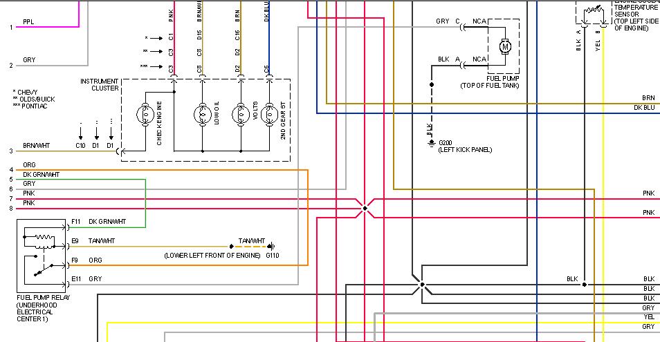 1996 lumina what does the ecm 12 volt fuel pump relay graphic
