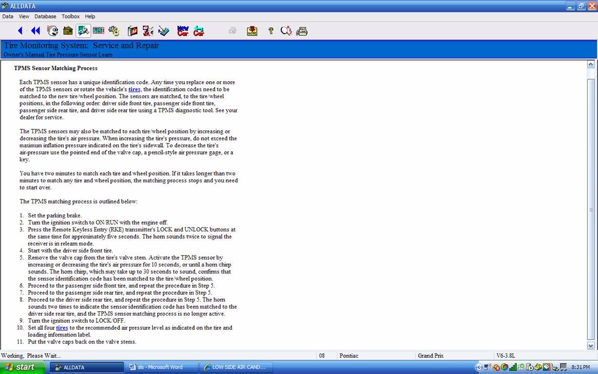 Tpms Reset Procedures Bing Images