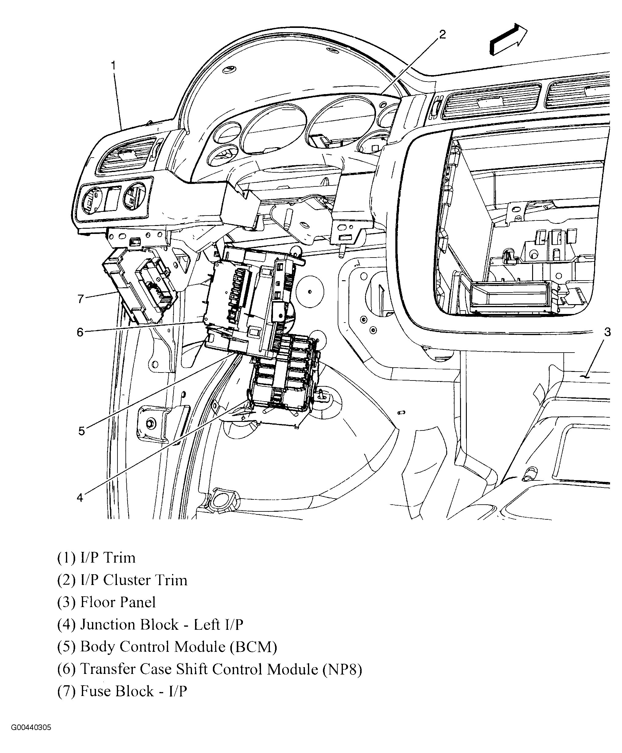 2006 gmc envoy slt parts diagram