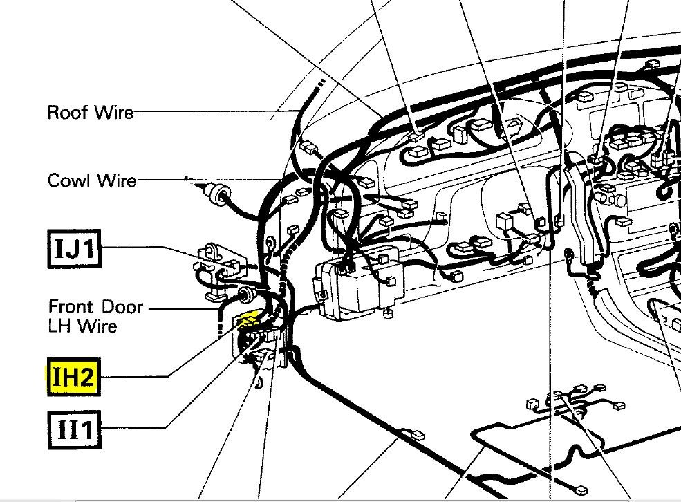 1996 toyota camry power window fuse location