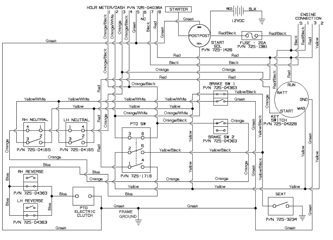 cub cadet 1045 electrical schematic