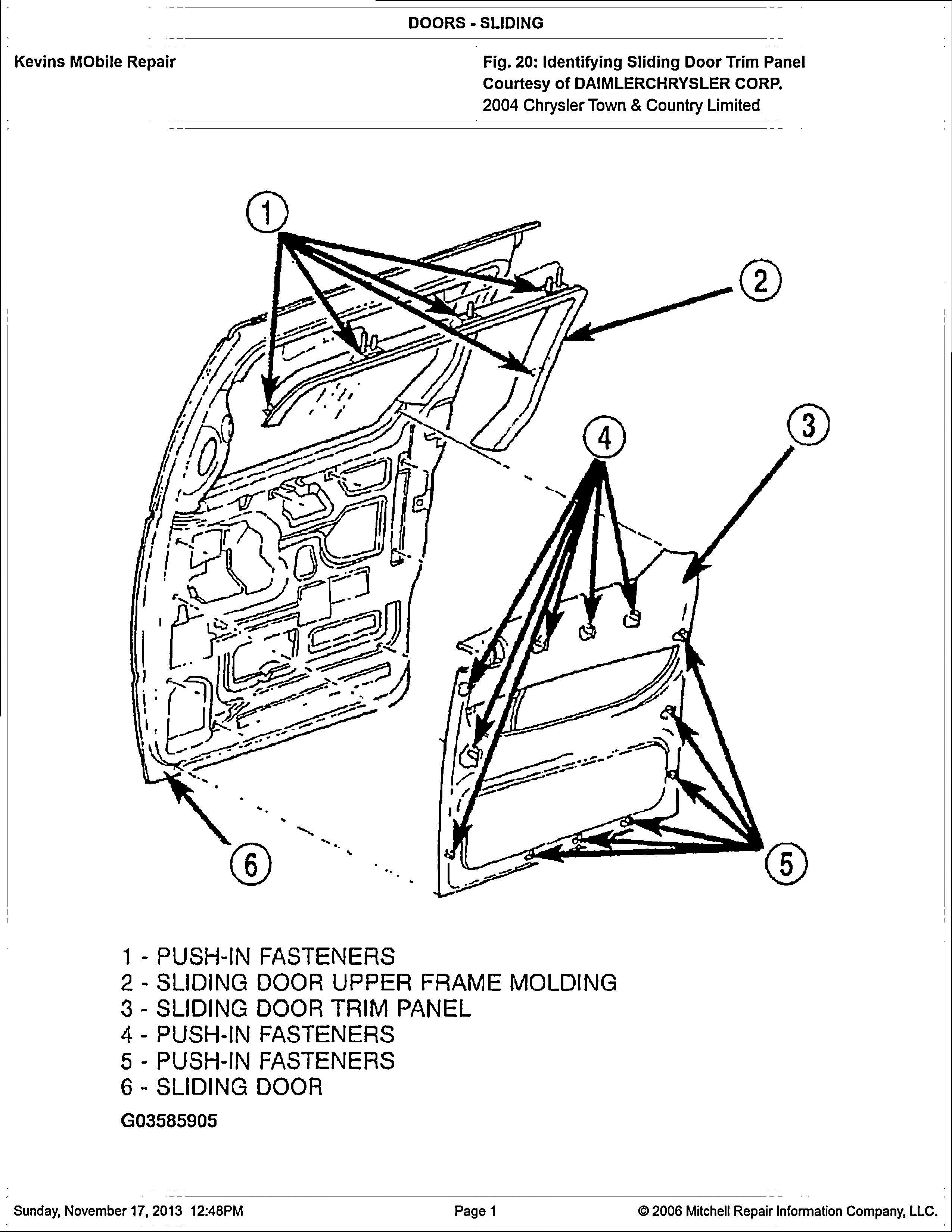 dodge caravan diagram passenger side sliding door does not open can hear latch 2003 dodge caravan diagram #1
