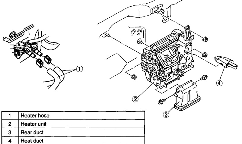 service manual  1993 mazda protege heater blower replace diagram