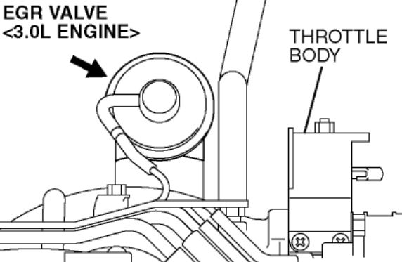 what are the locations of the egr and pcv valves on a 2005 spyder gts 6 cylinder engine