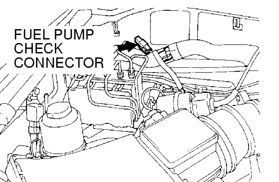 power is not reaching the fuel pump  the pump functions