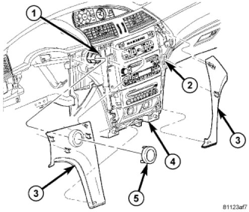 instructions to dismatle the radio on chrysler pacifica