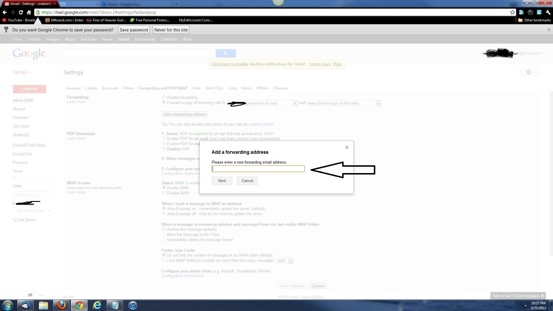 how to change my gmail username