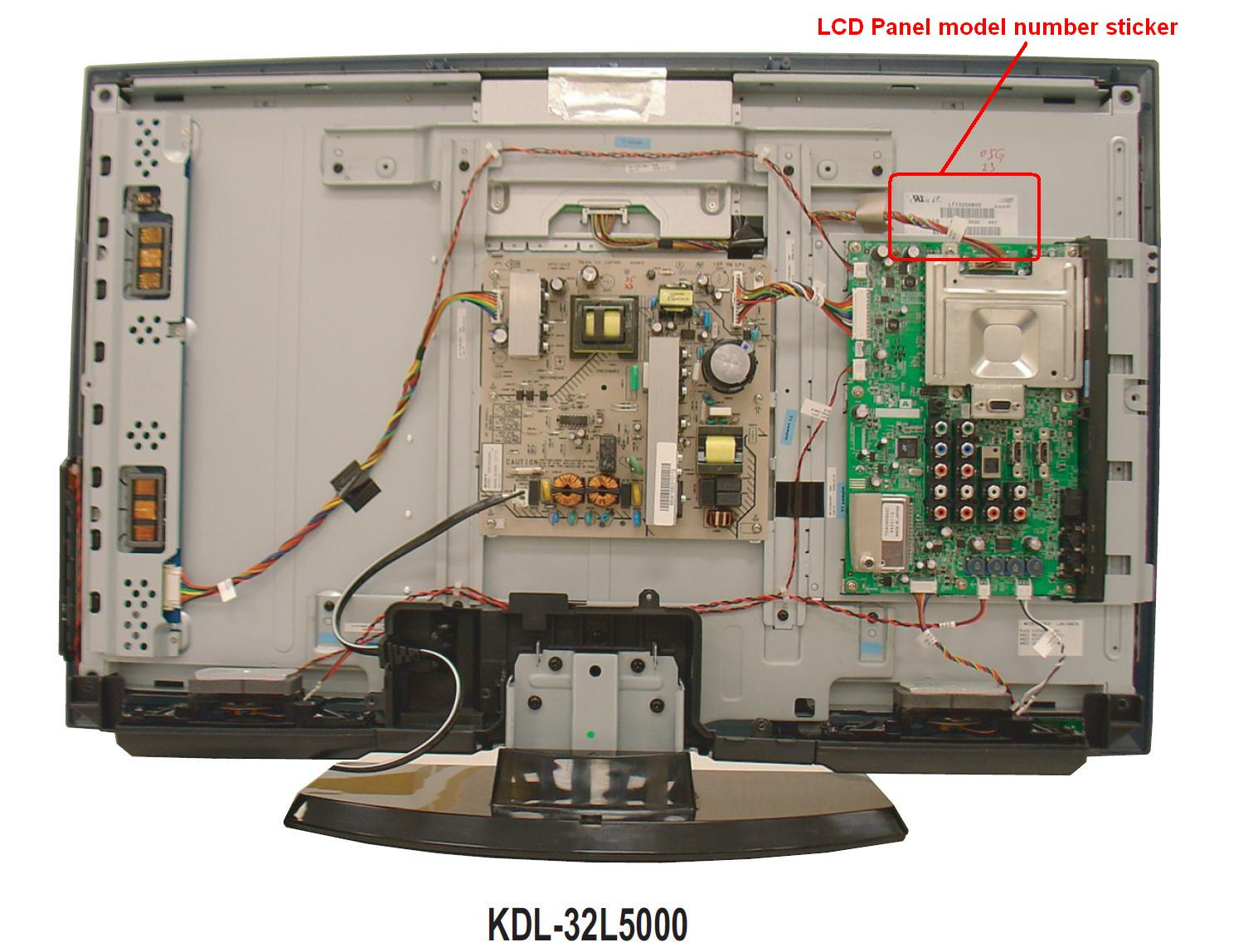 Can The Lcd Panel On A Kdl 325000 Be Replaced The Front