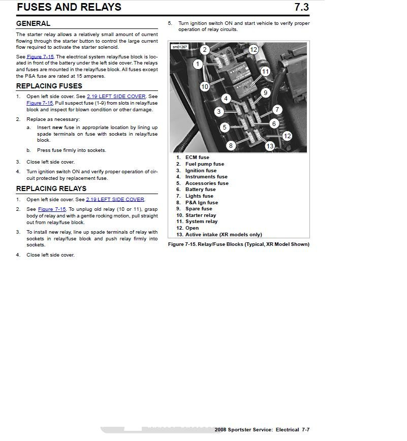 fuse box location 2000 harley davidson road king  fuse