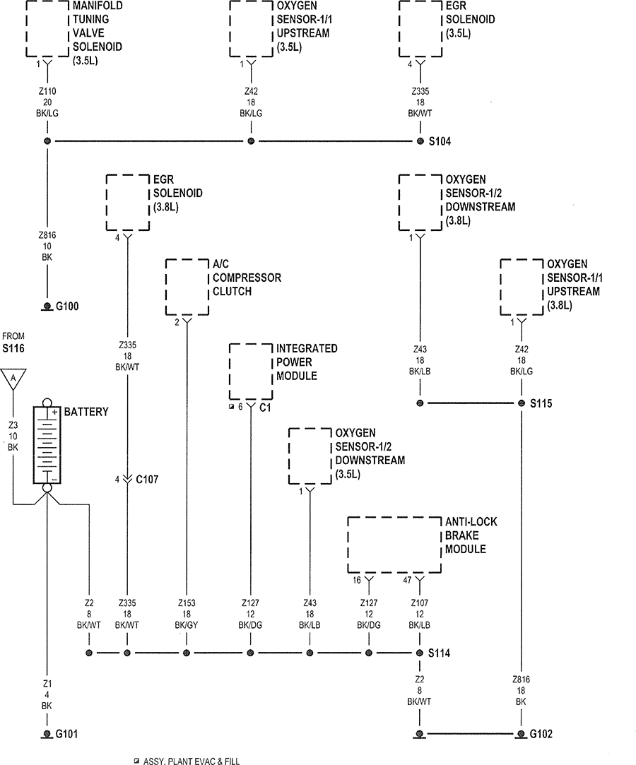 2007 chrysler 300 wiring diagram 2007 image wiring 2007 chrysler pacifica wiring diagram the 2 oxygen sensor 3 5l v6 on 2007 chrysler 300