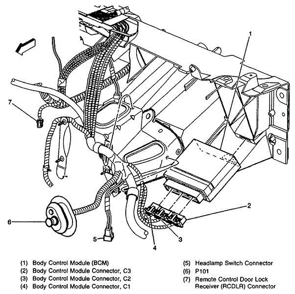 2001 pontiac grand am bcm module wiring diagram