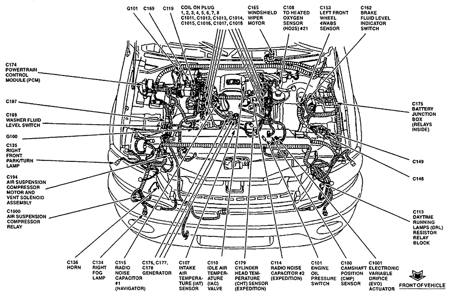 navigator air suspension control module location
