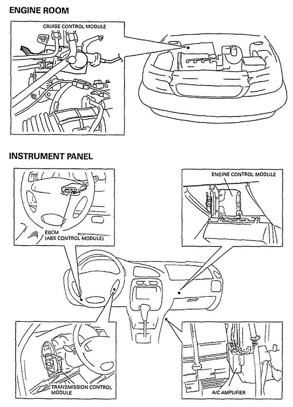Where Is The A  C Amplifier On A 2000 Suzuki Esteem Located