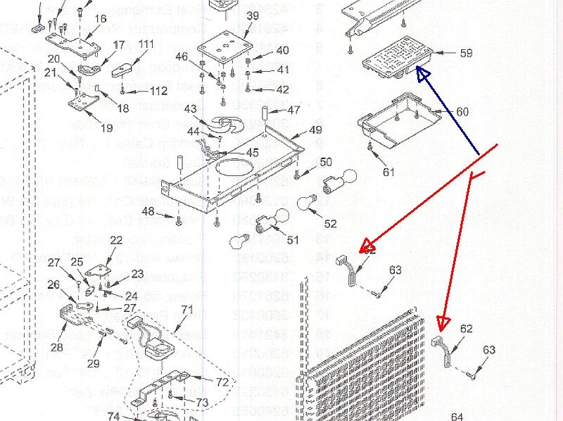 sub zero refrigerator parts diagram