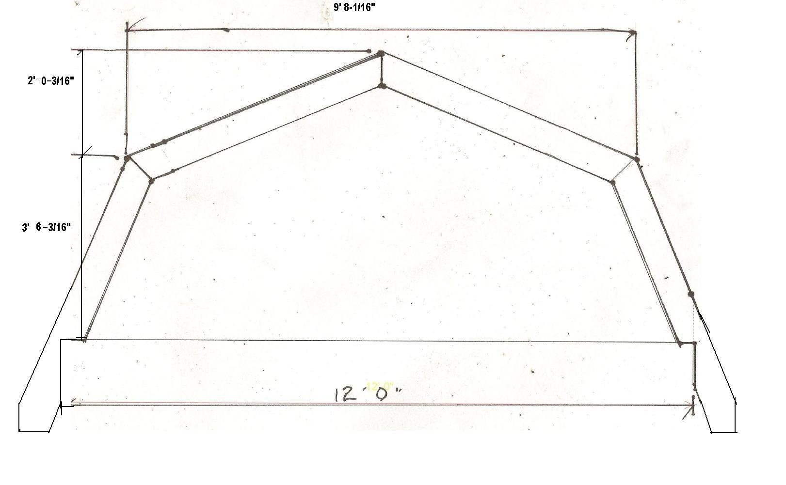 Pin gambrel roof angles on pinterest for How to build barn style roof trusses