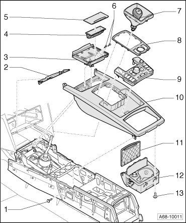 Remove Center Console 2011 Audi R8
