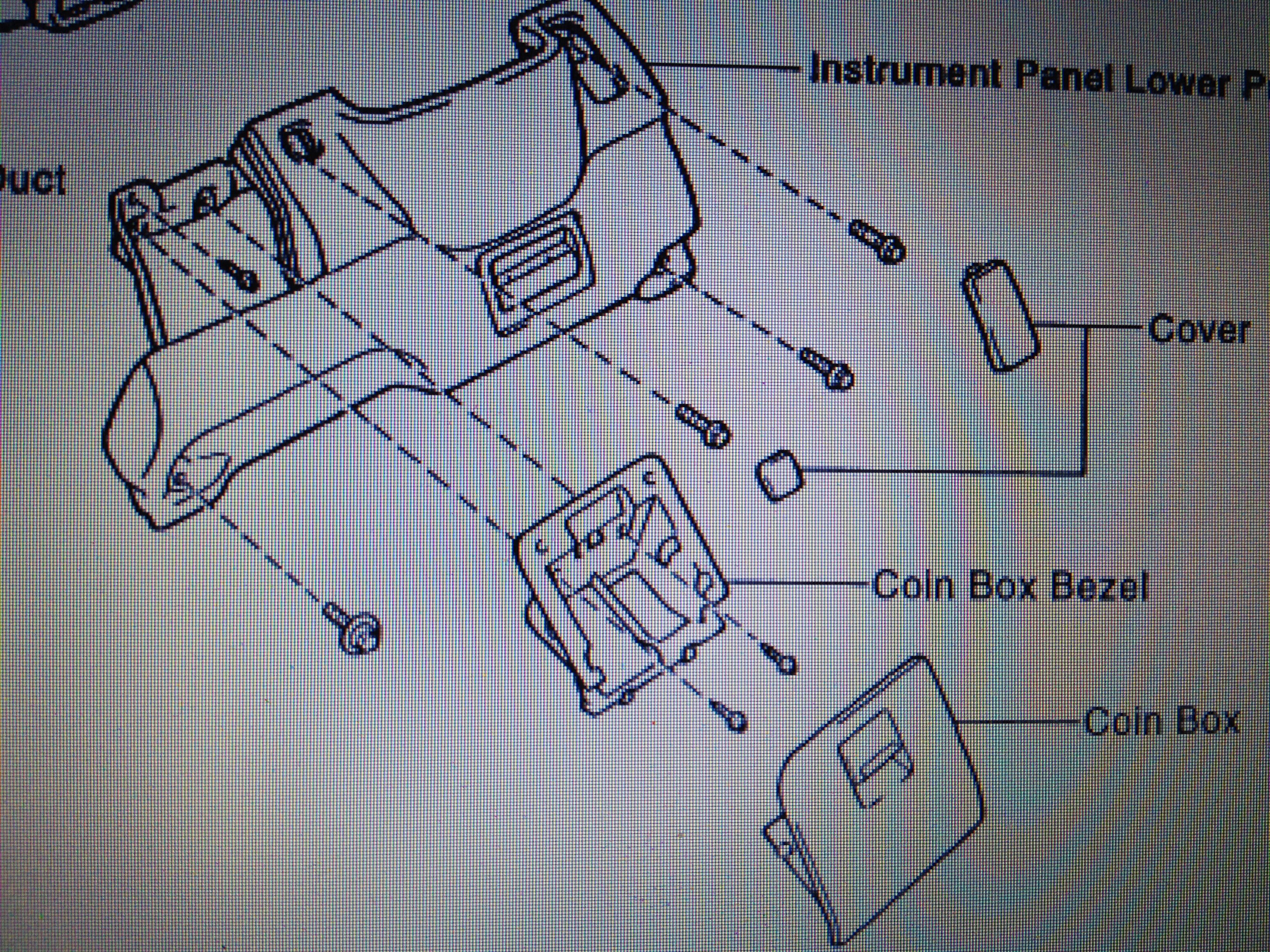 toyota camry le i have a 1996 toyota camry le the windows b remove the 2 screws and coin box bezel from the pad c remove the 2 covers from the pad d remove the pad set screw and 4 pad set bolts
