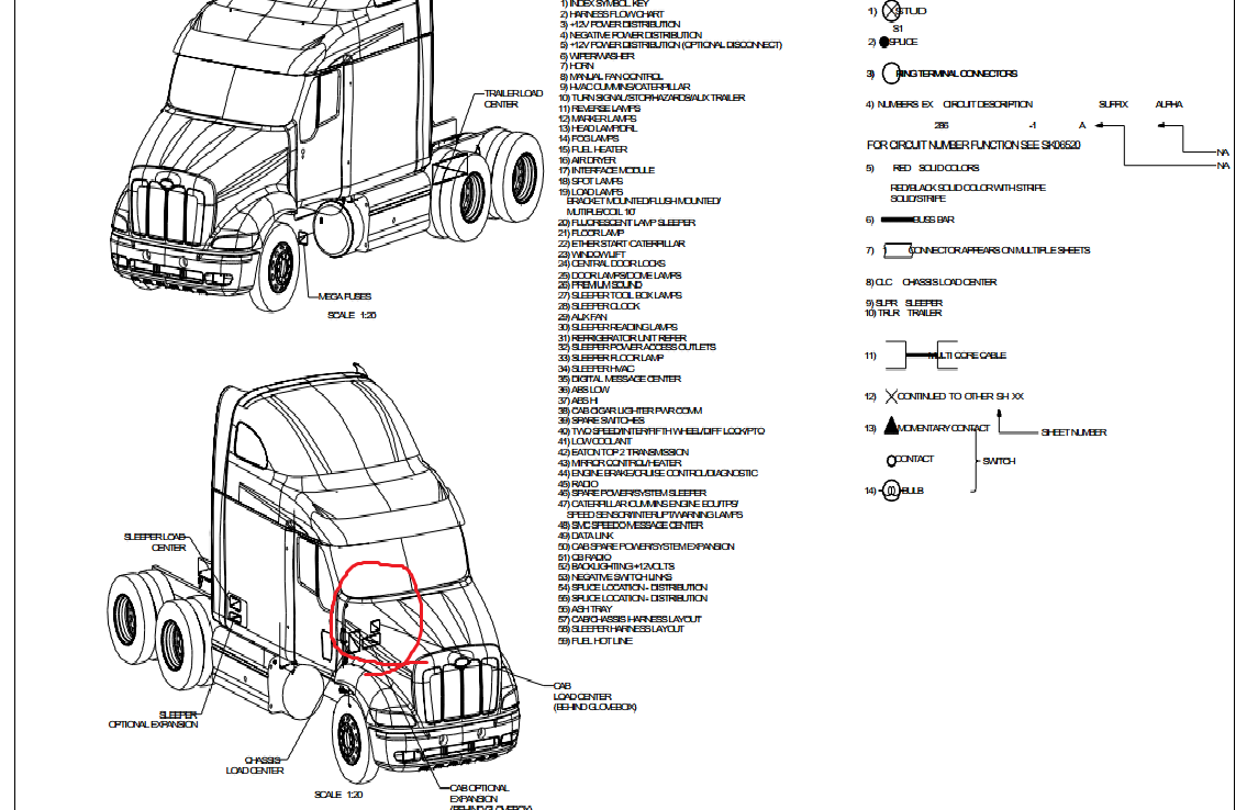 volvo vnl abs module location
