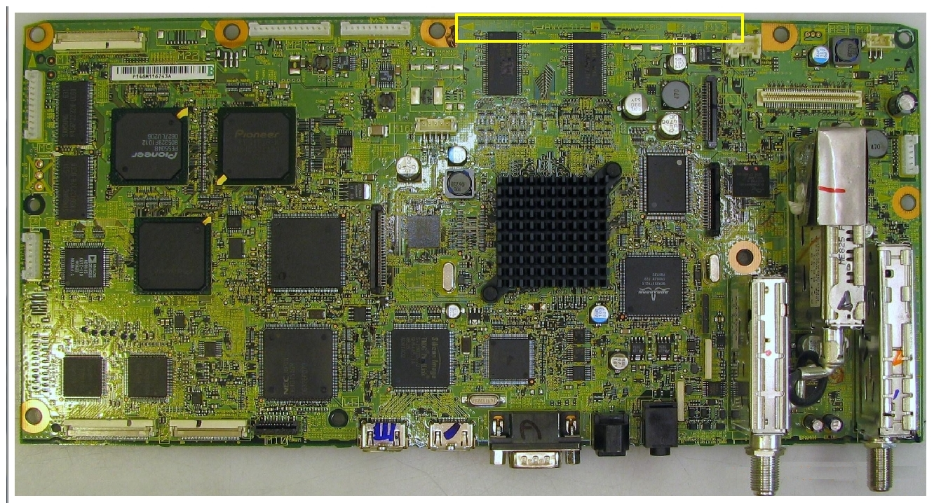Main Board of Pioneer TV
