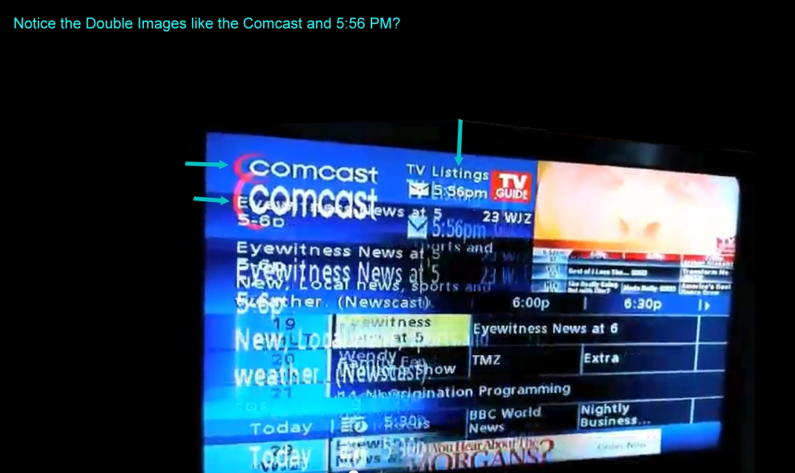 fix flat screen tv when it has been