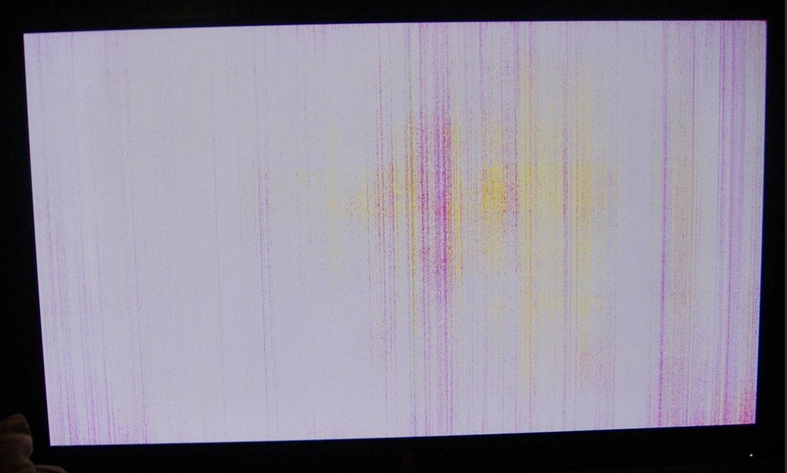 My Samsung plasma TV has red dots left on the screen. Whats wrong?