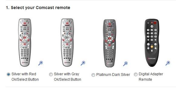 Different Xfiniti remotes