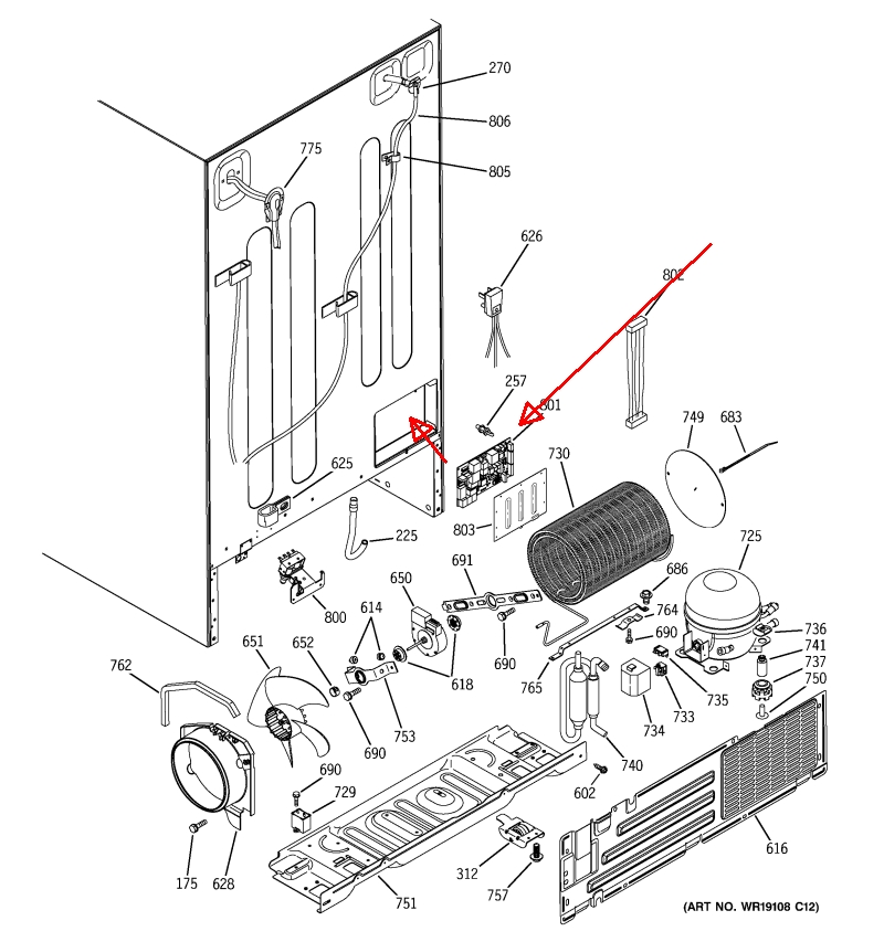 ge adora refrigerator parts diagram