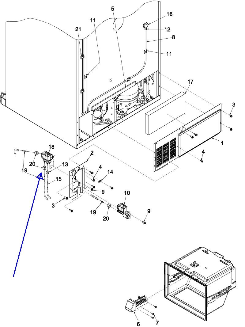 Bottom Freezer Refrigerators Kenmore Refrigerator Avanti Wiring Diagram Model 596 Photos