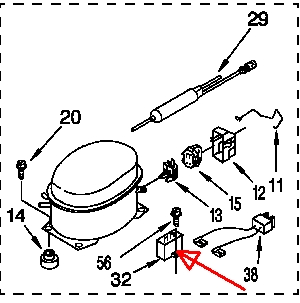 does the matsushita refrigeration company compressor dd51c78gau6 graphic graphic
