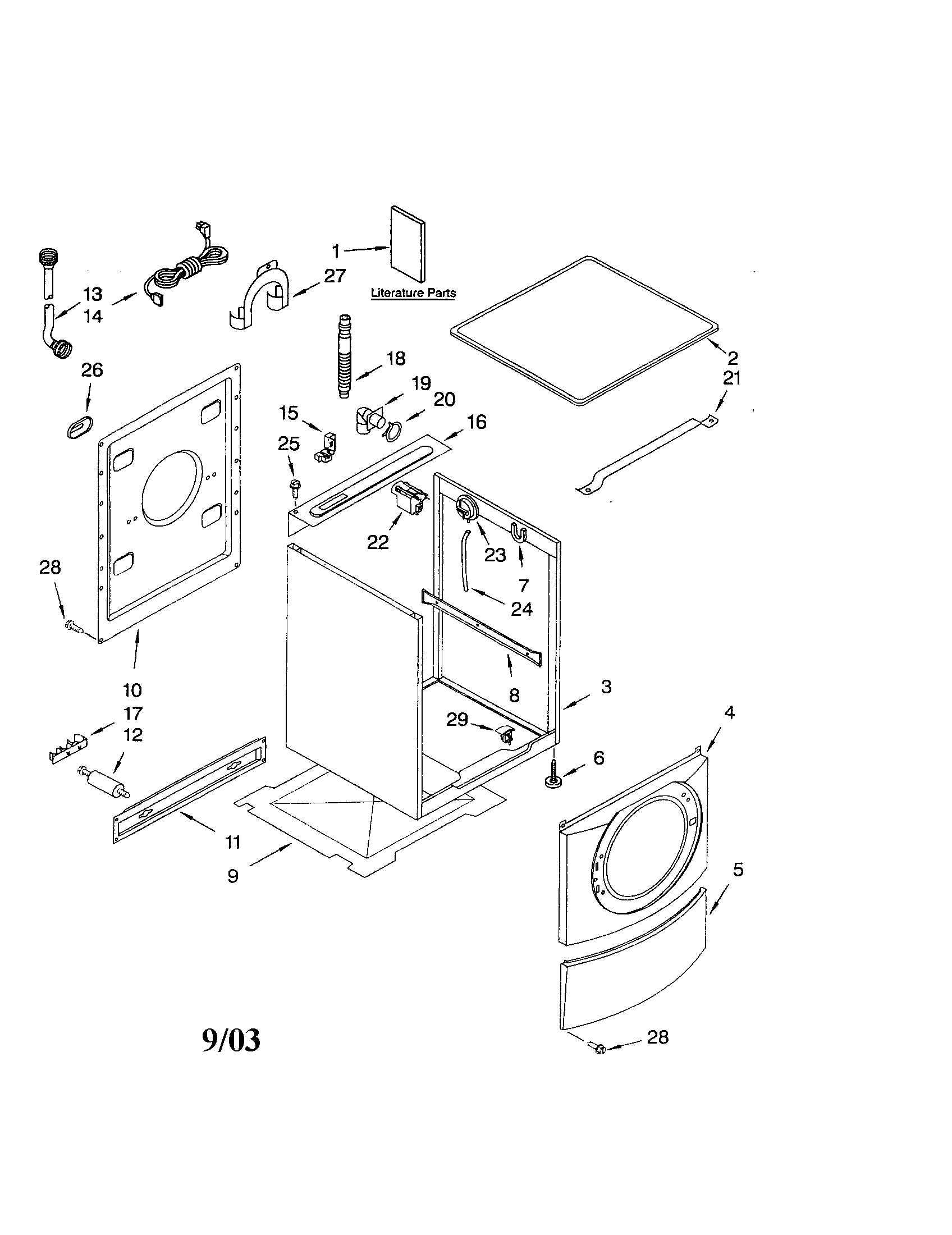 32 Kenmore Washer Model 110 Parts Diagram