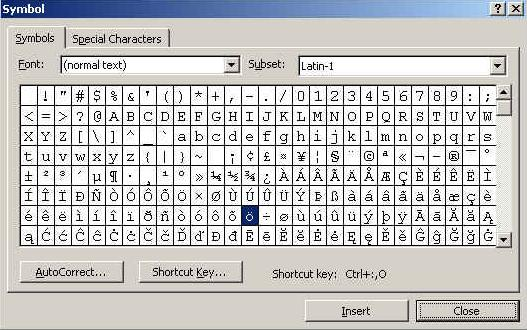 how to make squared symbol in word