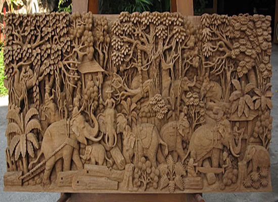 I have acquired a very large carved monkey wall plaque is