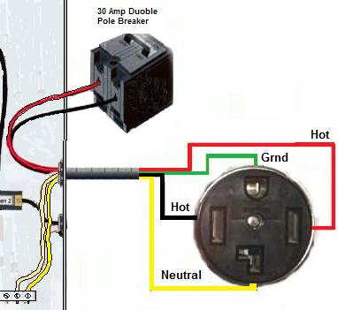 i need to run wire to a dryer i have wire coming from 4 prong connection graphic graphic