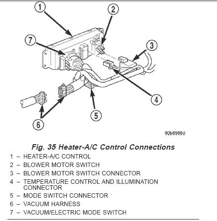 2000 Jeep Wrangler Heater Wiring Diagram: 2000 Jeep Wrangler  air conditioner control unit  connectors,