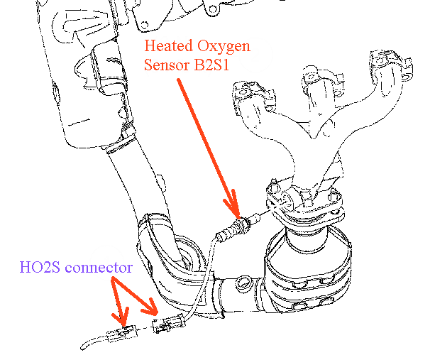 ford o2 sensor location