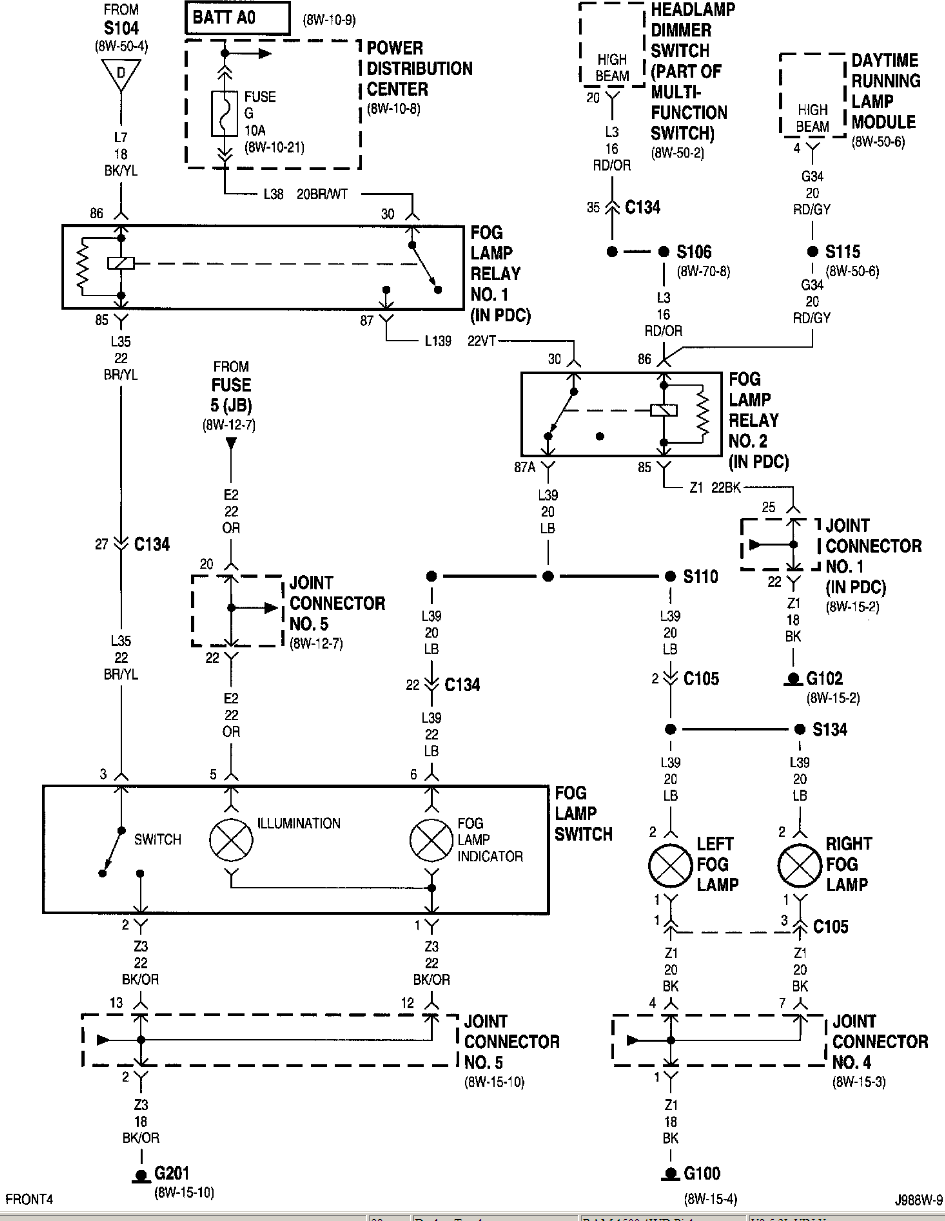 Factory Wiring Diagrams For 97 Dodge Ram 1500 Schematics 1999 Diagram Fog Light Wire Data Schema U2022 Rh Lemise Co 1995